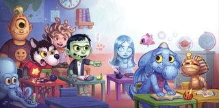 Azuro à l'école des monstres