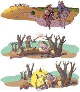 Illustrations du Quichotte  ©ÉDITIONS LAROUSSE  2014 (Espagne)