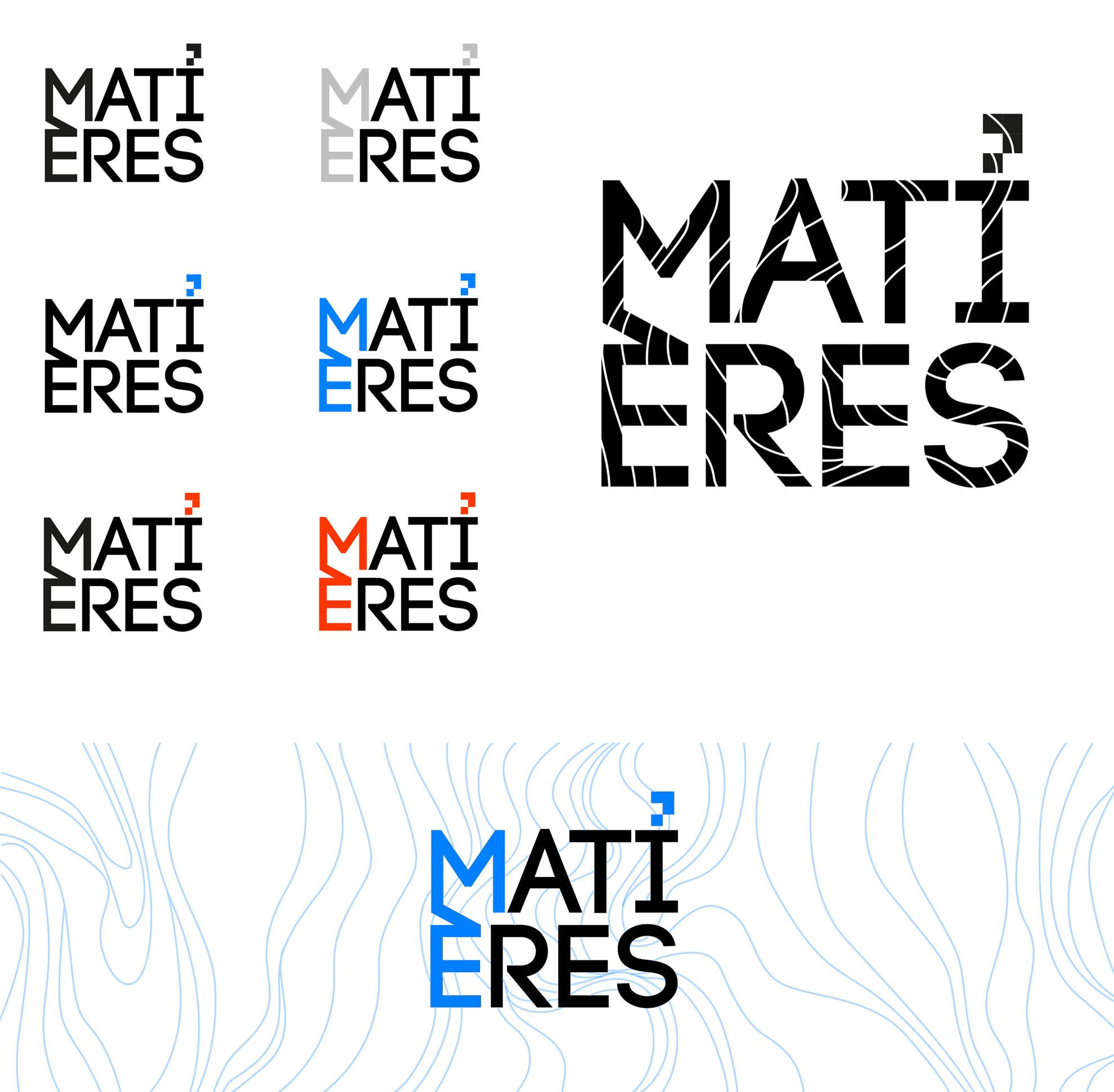 Principe De Logotype Pour Lagence Matieres