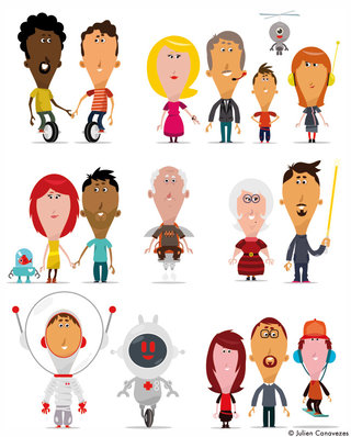Illustration de personnages