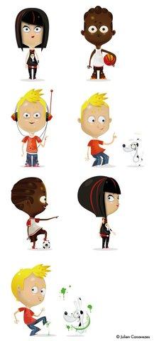 personnages enfants