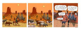 Un strip un jeu. Great Western