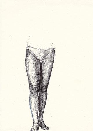 sans titre, 2016, stylo sur papier, 26,7x19,5 cm