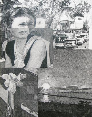 sans titre, 2010, stylo sur toile, 50x40 cm