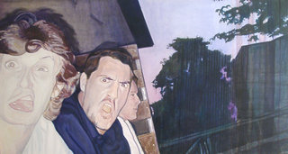 Hey les filles! Aimez nous au printemps, 2007, huile sur toile, 97x180 cm