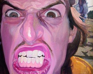 Gueule V, 2007, huile et acrylique sur toile, 80x101 cm