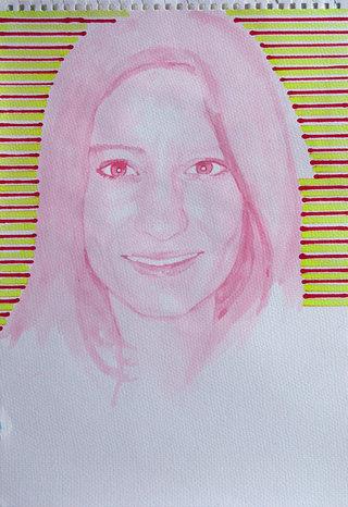 United Colors of World 1, 2009, acrylique et feutre sur papier, 38x26,3 cm