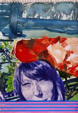 United Colors of World 12, 2009, aquarelle, acrylique et feutre sur papier, 38x26,3 cm
