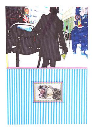 """cycle """"racontez-moi"""" 8, 2007, 45x32 cm, stylos et feutres sur papier"""