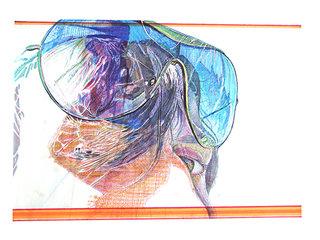 """cycle """"racontez-moi"""" 10, 2007, 45x32 cm, stylos et feutres sur papier"""