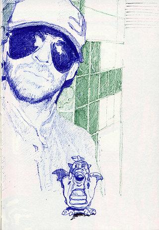 sans titre 1, 2009, stylo sur papier, 20,9x14,7 cm