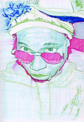 sans titre 4, 2009, feutre, stylo sur papier, 20,9x14,7 cm