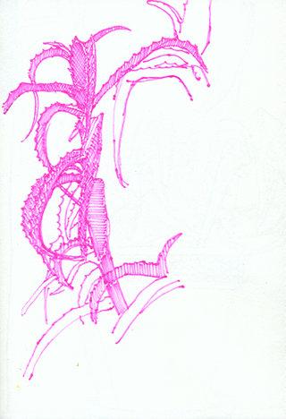 sans titre 9, 2009, feutre sur papier, 20,9x14,7 cm