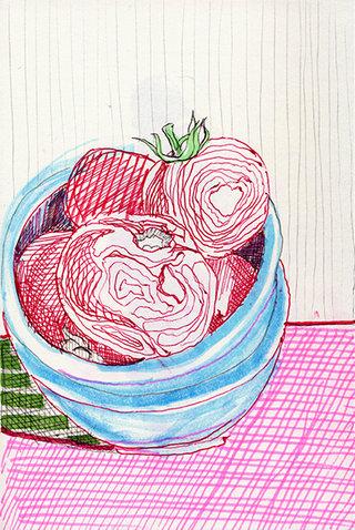 sans titre 14, 2009, feutre, stylo sur papier, 20,9x14,7 cm