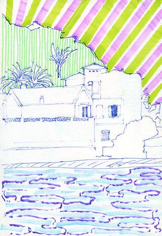 sans titre 17, 2009, feutre, stylo sur papier, 20,9x14,7 cm