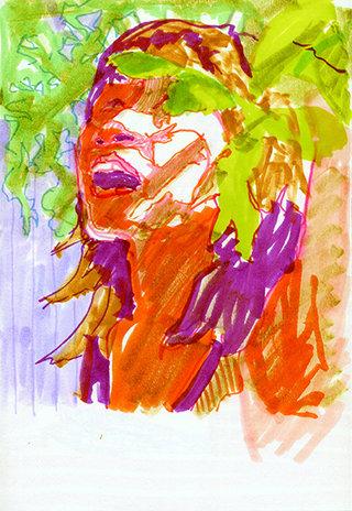sans titre 22, 2009, feutre sur papier, 20,9x14,7 cm