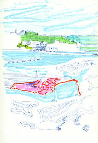 sans titre 24, 2009, feutre, stylo sur papier, 20,9x14,7 cm
