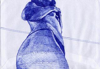 sans titre, 2007, stylo sur enveloppe