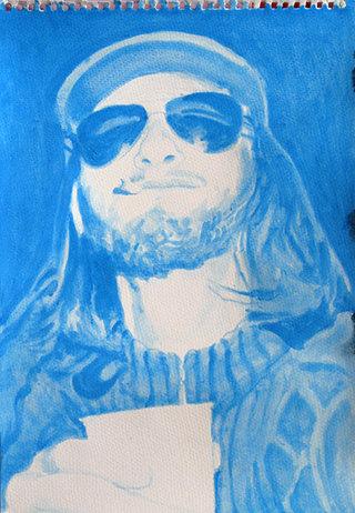 jeune Castro, 2009, gouache sur papier, 38x26,3 cm
