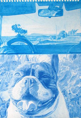 sans titre, 2009, gouache sur papier, 38x26,3 cm