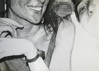 sans titre, 2012, stylo sur papier, 29,7x42 cm