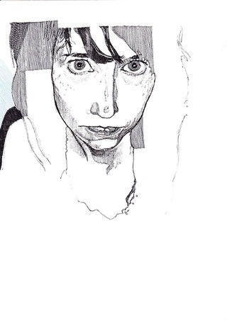 sans titre, 2008, stylo sur papier, 29,7x21 cm