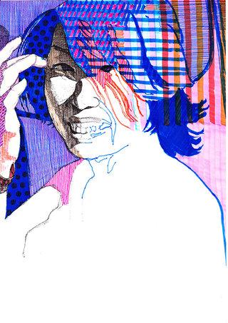 sans titre, 2008, feutre sur papier, 29,7x21 cm