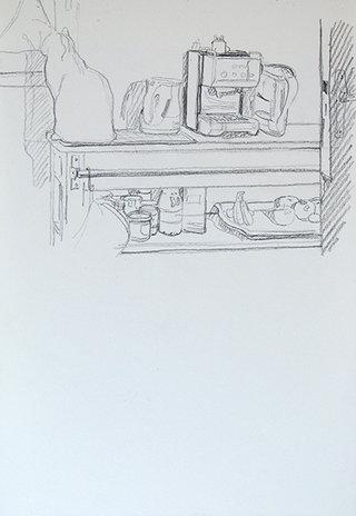 sans titre, 2012, pierre noire sur papier, 32,5x22,5 cm