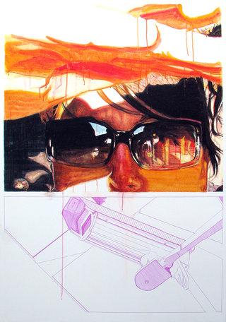 souriez...,2008,acrylique sur toile,140x97cm.