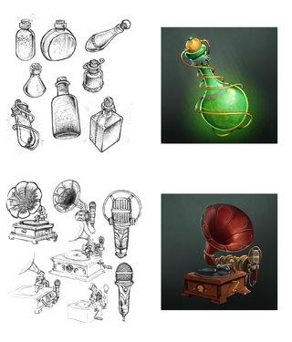 recherches items jeu mobile