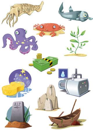 Illustration pour un site de jeu en ligne - Ocean Life