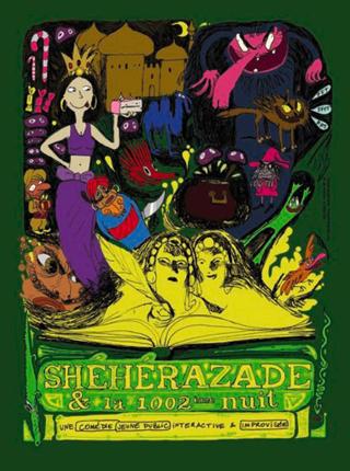 Affiche du spectacle Shéhérazade et la 1002ème nuit.