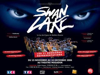 SWAN LAKE AU THEATRE MOGADOR - affiches