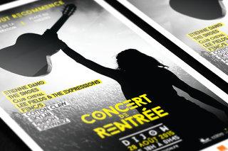 Concert de rentrée 2015 - Dijon - affiches