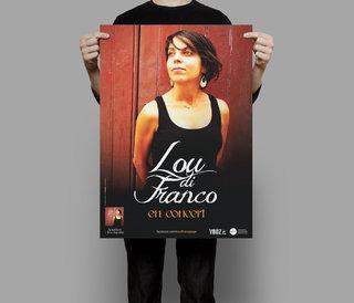 """Lou di Franco """"Acustica"""" - affiches"""