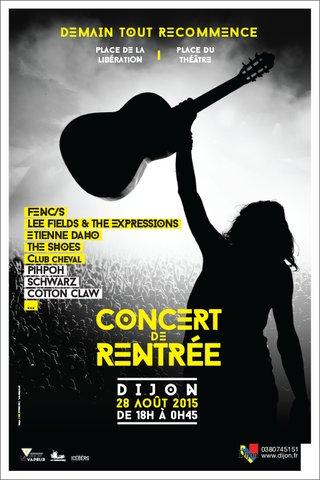 Concert de rentrée 2015 de Dijon - affiches