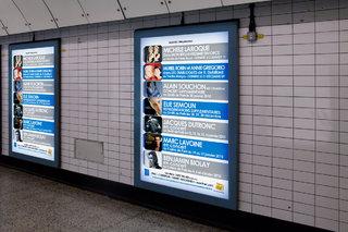 VMA BACKLINE - Affichage métro - affiches