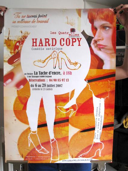 affiche pièce hard copy