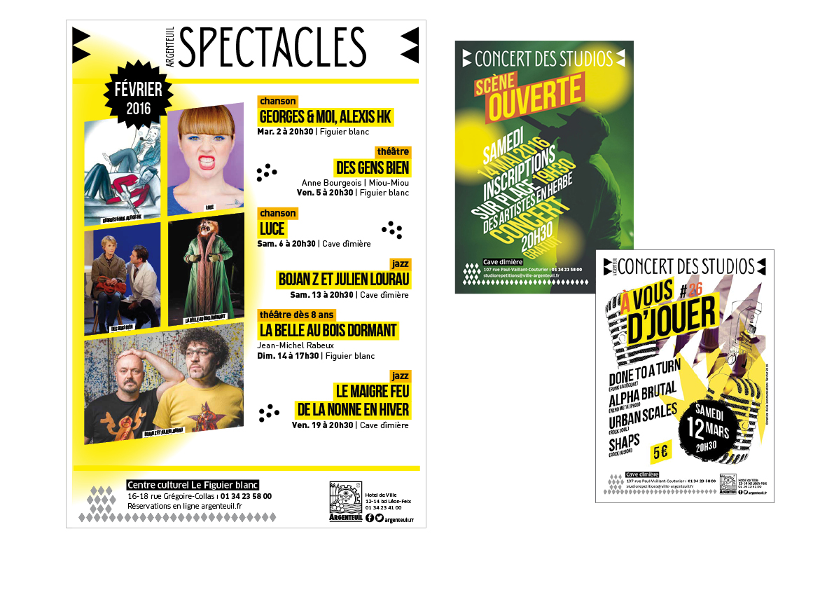 Affiches Spectacle