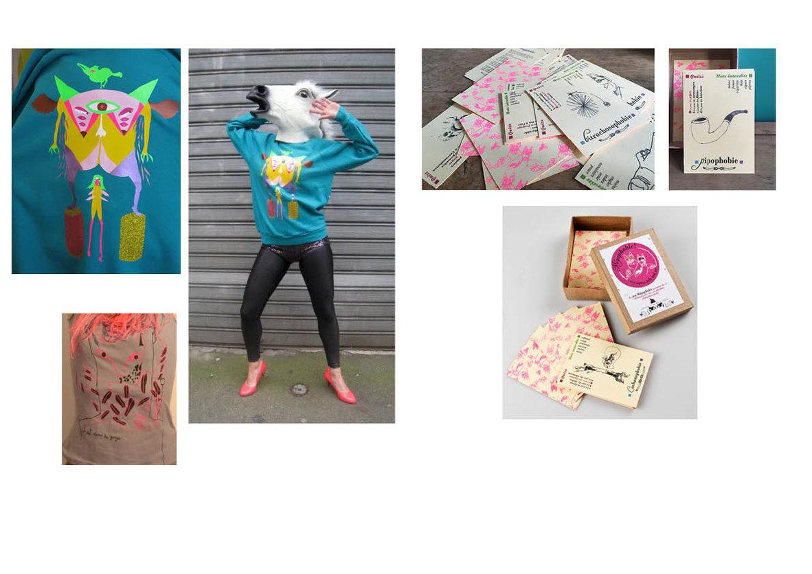 création textile + Jeux de cartes