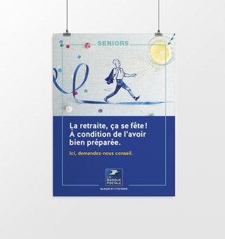 Affiche bureau de poste / LA BANQUE POSTALE
