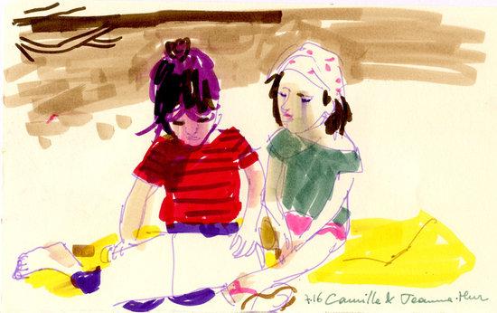 Camille et Jeanne lisent