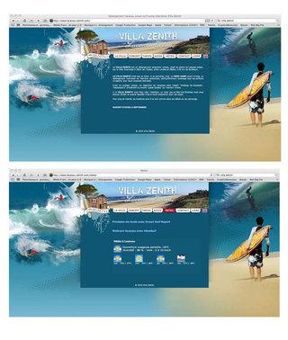 Site internet Villa Zénith