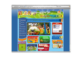 Site internet de Kid Parc, parc d'attractions pour enfants en Gironde