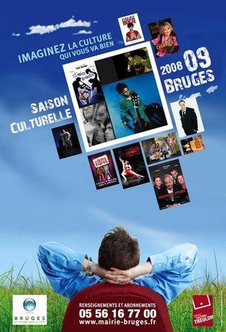 Affiche du lancement de la saison 08-09 de l'ECT de Bruges