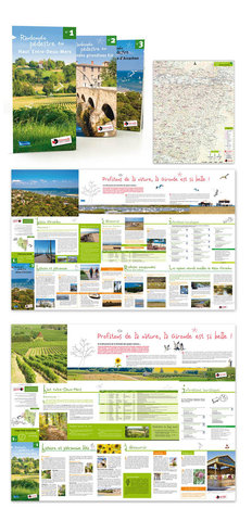 Cartes de randonnée pédestre pour le Conseil Général de la Gironde