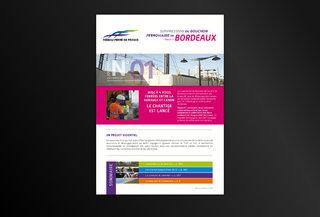 Journal sur le bouchon ferroviaire de Bordeaux pour RFF