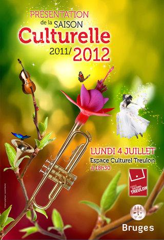 Affiche du lancement de la saison 2011/12 de l'ECT de Bruges