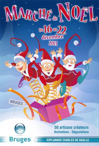 Affiche pour le marché de Noël de Bruges