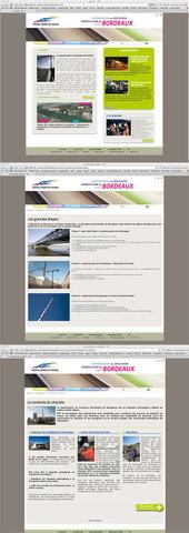Site internet pour RFF sur le Bouchon Ferroviaire de Bordeaux - Phase Travaux